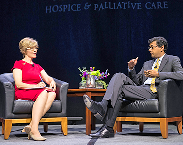 Cathy Wurzer with Dr. Atul Gwande